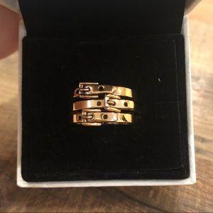 Michael Kors Stackable Buckle Rings +FREE 🎁